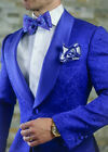 Jacquard Wedding Suit For Men Slim Fit Men's Suits with Pant Groom Jacket Pants