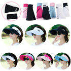 Pink Womens Sun Visor Hats Beach Golf Wide Brim Hats Ladies UV Protection Hats