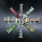 38/40/42/44MM Apple Rubber Digital Camouflage Camo Watch Band Strap Iwatch Color