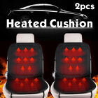 2x 12V Car Heated Seat Cover Heating Hot Thermal Chair Cushion Warmer $33.75 USD on eBay