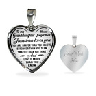 To My Granddaughter Necklace Heart Pendant Gifts From Grandma Loves You Grandkid