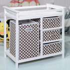 Infant Changing Table Baskets Hamper Diaper Storage Baby Station Pad Safety Belt