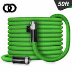 50/75/100FT Deluxe Expandable Garden Hose Heavy Duty Flexible Garden Water Hose
