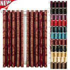 Ring Top Curtains Ready Made Fully Lined Living Room Bedroom Window Curtain Pair