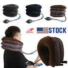 Air Inflatable Cervical Collar Neck Traction Device Brace Support Pain Relief US