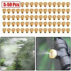 30/50 Brass Misting Nozzles Water Mister Sprinkle For Cooling System Garden Tool
