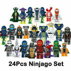 Kyпить Set of 24 Stk Ninjago Mini Figures Kai Jay Sensei Wu Master Building Blocks Toys на еВаy.соm
