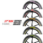 Wheel 17'' CHECK Rim Stickers For MV Agusta Brutale F4 750 1000 Turismo Veloce