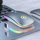 Silent Wireless Mouse Slim Ergonomics Design Office Mouse 1600DPI Rechargable