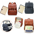 Baby Diaper Bag Large Capacity Nappy Mummy PU Leather Maternity Travel Bag