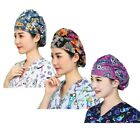 3PCS Cotton printing Medical Doctor Nurse Surgical Scrub Cap Hat