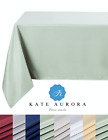 Kate Aurora All Purpose Spill Proof Fabric Tablecloth - Assorted Colors & Sizes