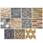 3d Wall Stickers Geometry Brick Stone Self-adhesive Decals Home Room Decor