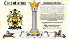 Badjer-Byrs COAT OF ARMS HERALDRY BLAZONRY PRINT