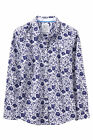 New Crew Clothing Womens Floral Poplin Shirt in Blue