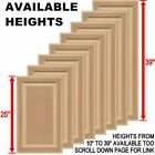 """Unfinished MDF Square Raised Panel Cabinet Doors (25""""H & Up)"""