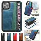 For Iphone 11 Pro Xs Max Xr 6 7 8 Plus Shockproof Hybrid Leather Card Slot Case