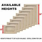 """Unfinished Oak Square Raised Panel Cabinet Doors (Up to 24""""H)"""