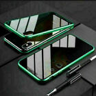 360 Magnetic Case For i Phone 11 Pro Max Anti Spy Privacy Glass Shockproof Cover