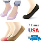 5pairs Women's Invisible No Show Nonslip Loafer Boat Ankle Low Cut Socks
