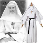 The Conjuring Scary Nun Valak Costume Horror Halloween Cosplay Costume White