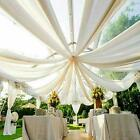 Sheer Chiffon Voile Backdrop Panel Ceiling Draping Wall Divider Wedding Banquet