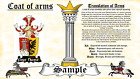 Behrle-Purll COAT OF ARMS HERALDRY BLAZONRY PRINT