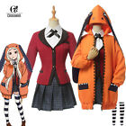 Kakegurui Yomoduki Runa Cosplay Costume Hoodie Orange Outfit School Uniform Sets