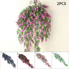 2pcs Artificial Fake Flower Vine Hanging Garland Plant Home Outdoor Garden Decor