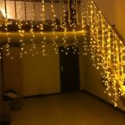Curtain Icicle Led String Lights Droop Christmas Holiday Garlands Decorative 5M