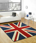 Medium - Extra Large Traditional Union Jack Flag Rug, Red Ivory White Blue, Sale