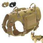 Tactical K9 Training Working Dog Harness No Pull & 2 Pouches Military Molle Vest