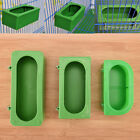 Plastic Green Food Water Bowl Cups Parrot Bird Pigeons Cage Cup Feeding Feed Fw