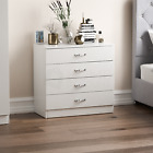 White Modern Chest of Drawers Bedside Table Wardrobe 1 2 3 4 5 Drawer Bedroom