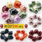 10x Artificial Peony Fake Flowers Heads Champagne Diy Bouquet Wedding Home Decor