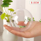 1-50X Clear Plastic Balls Christmas  Baubles Sphere Fillable Xmas Tree Ornament