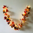 New Halloween Led Light Autumn Maple Leaves Garland Hanging Plant Home Decor Uk