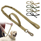 No Pull Tactical Bungee Dog Lead with 2 Control Handle Military Training Leash