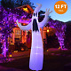 Twinkle Star Halloween Inflatable 12FT Ghost with LED RGB Color Changing Light