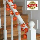Maple Leaves Garland LED Fairy Light for Xmas Autumn Decoration String Halloween