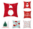 Merry Christmas Pillow Covers Snowman Throw Pillow Case Xmas Sofa Cushion Covers