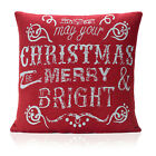 Christmas Festive Winter Merry BRIGHT Xmas Tapestry Unfilled CUSHION COVERS