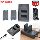 Large Capacity Dual Battery / Charger for GoPro MAX Panoramic Action Camera USA