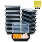 Meal Prep Containers with Lids 28 oz, BPA Free Lunch Boxes Portion Control Plate