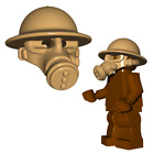 Custom British GAS MASK Helmet for Lego Minifigures -Pick your Color! WWII