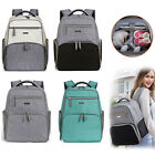 Mummy Diaper Bag Breast Pump Backpack - Multifunctional Large Travel Nappy Bag