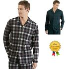 NAUTICA mens Cozy Pajama Camp Plaid Super Soft Fleece PJ Shirt L XXL NEW
