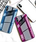 Shockproof Protective Tempered Glass Mobile Cell Phone Cover Case For Iphone 8 X
