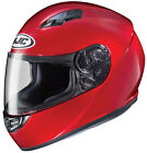 HJC Adult CS-R3 Solid Candy Red Full Face Motorcycle Helmet DOT