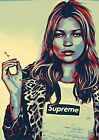 Kate Moss SUPREME Poster -A5, A4 A3 A2 A1 Available